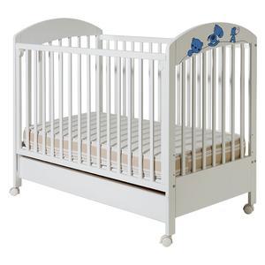 Dečiji krevetići Maja belo plava sa fiokom bela - 609