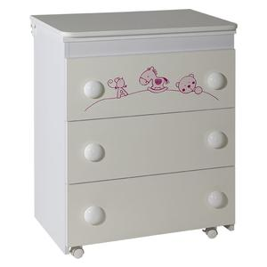 Komoda Maja belo roza - 613