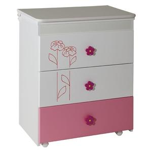 Komoda Lilly belo roza - 051