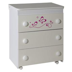 Komoda Lolek belo roza leptir - 606