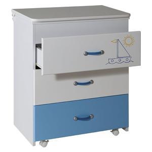 Komoda Lilly belo plava - 028