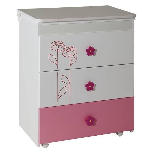Komoda Lilly belo roza - 051 Slika-1