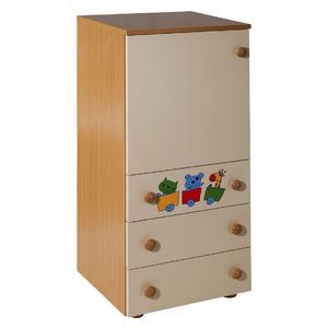 Children's Cabinet/3 + door Natur