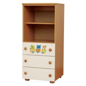 Childrens cabinet with 3 drawers natur