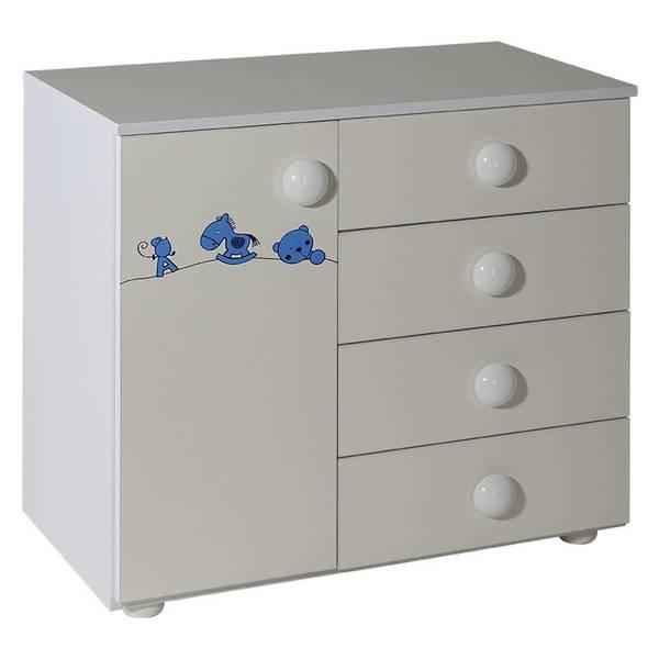 Ormarić sa 4 fioke + vrata bela uz sobu Maja plavi  - 060 Slika-1