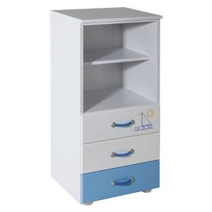 Childrens cabinet with 3 drawers with room Lilly blue - 067
