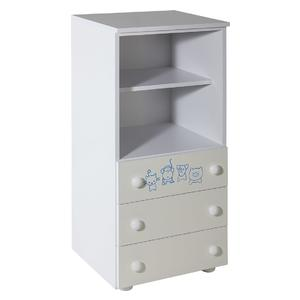 Childrens cabinet with 3 drawers with room Lolek blue - 067