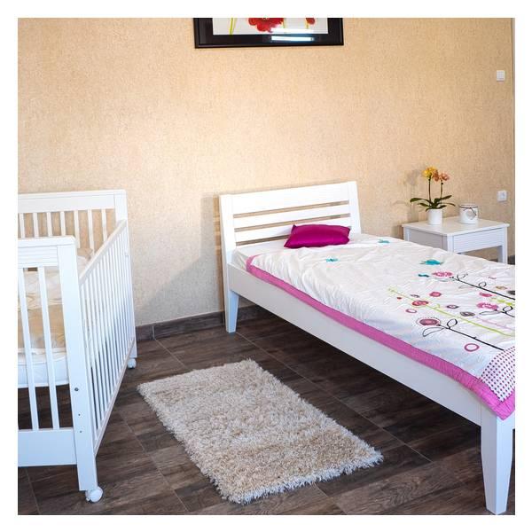 Easy beli bračni krevet  140x200 Slika-6