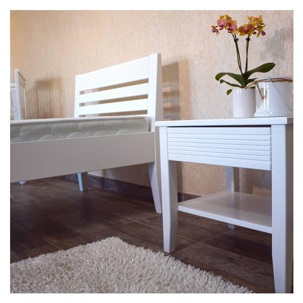 Easy beli bračni krevet  140x200 Slika-2